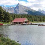 Kanu fahren Maligne Lake